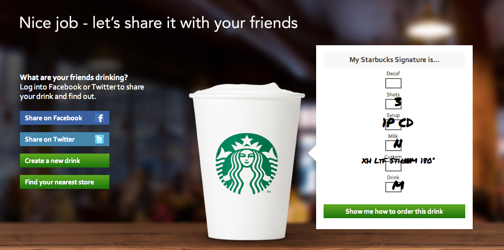 6c1e31dceee1 Create your signature coffee with Starbucks